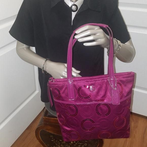 Coach Handbags - Rare COACH Sequin Tote Purse